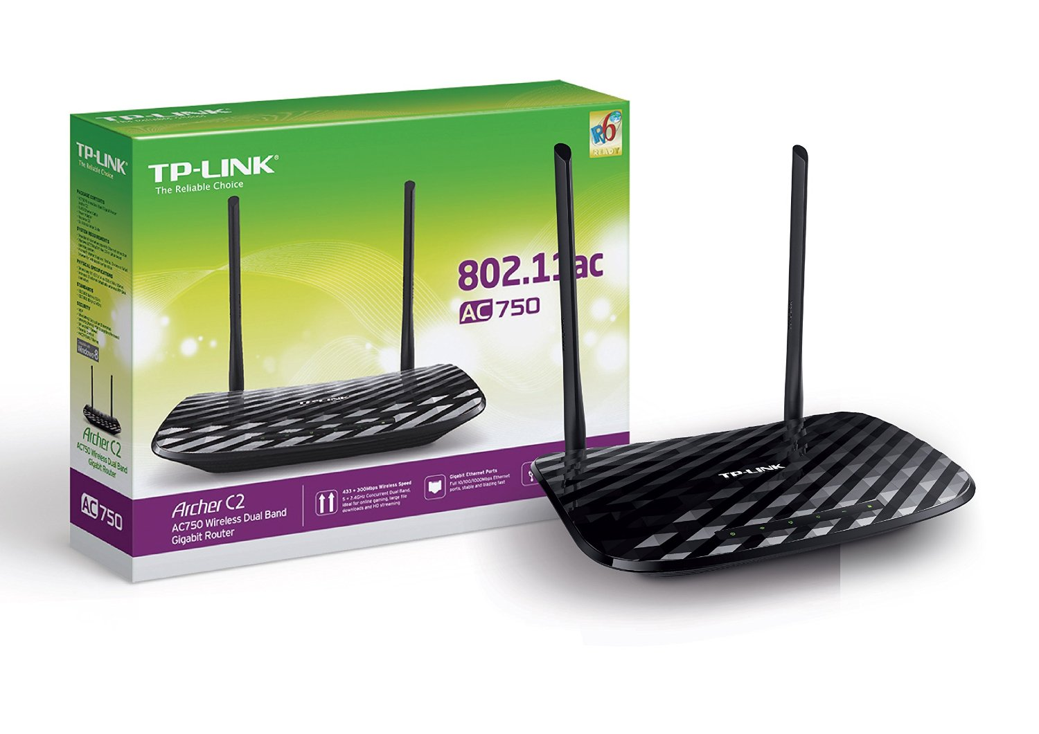 Tp Link Archer C2 Ac750 Wireless Dual Band Gigabit Router