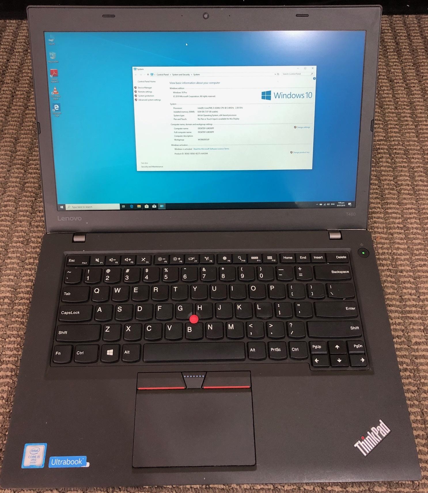 Lenovo ThinkPad T460 6th Gen i5 Ultrabook I5-6300U 256GB SSD