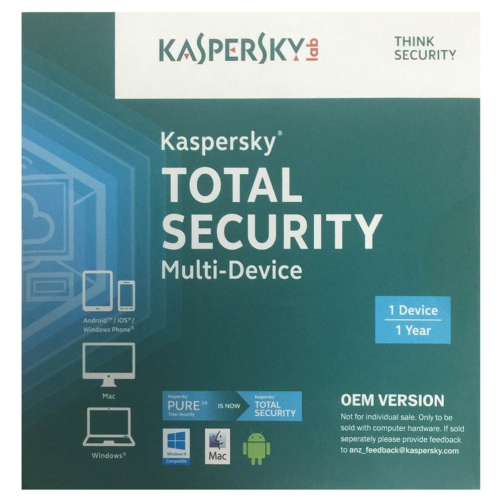Kaspersky Total Security Multi Device OEM CD Media 1 Device